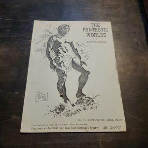 The Fantastic Worlds Of Edgar Rice Burroghs #15 Summer/Autumn 1986, Rare British Society Fanzine. Tarzan, John Carter Of Mars, Carson Of Venus... for Sale in Fresno, CA