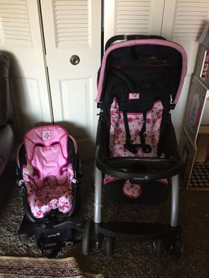 Safety 1st car seat with base and stroller excellent great condition for Sale in Gaithersburg, MD