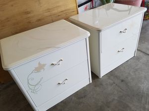 Italian night stand white marbol top for Sale in US