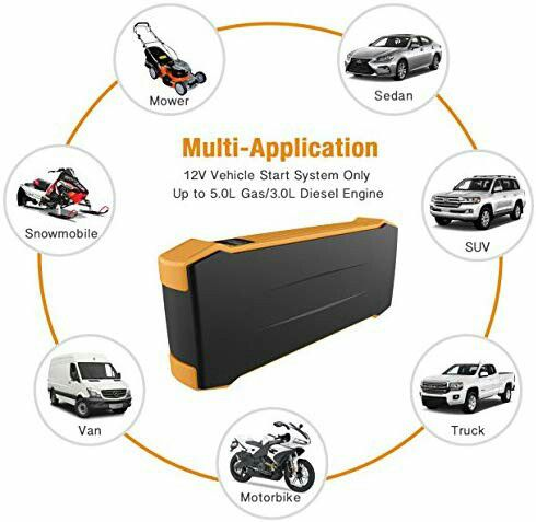 autowit 12V Battery-less Portable Car Jump Starter 700A Peak/600A Instant  Safe Booster Pack, Auto Emergency Start Technology, Orange for Sale in