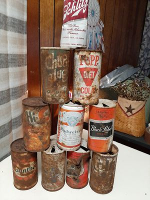 Vintage lot of 10 pull tab cans for Sale in Spout Spring, VA