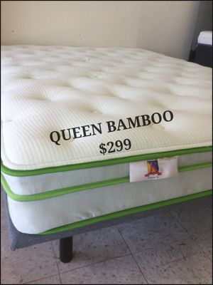 Quality queen pillow top bamboo mattress special savings for Sale in Las Vegas, NV