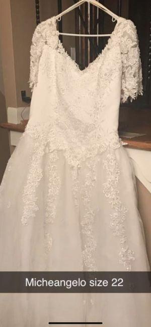 Beautiful size 22 wedding dress for Sale in Haddonfield, NJ