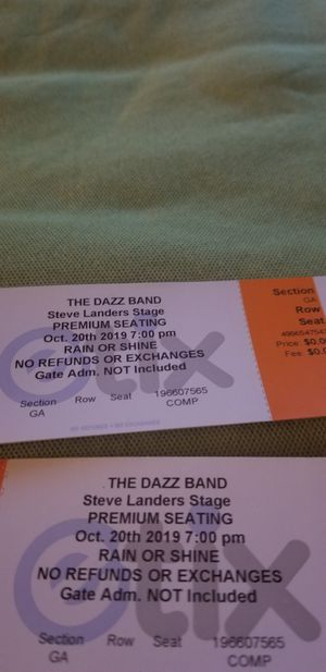 Premium seating for dazz band for Sale in Little Rock, AR