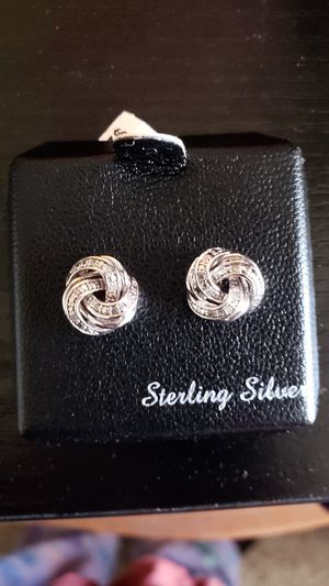 Real Diamond Sterling Silver Studs for Sale in Brentwood, CA
