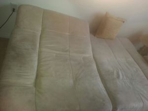 Double use real leather couch for Sale in Ogden, UT