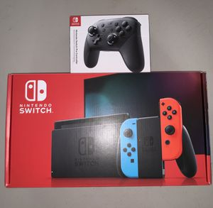 Nintendo Switch Console 32GB Red Blue Neon with Pro Controller   BRAND NEW for Sale in Los Angeles, CA