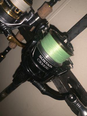 Shimano sustain 5k fishing reel for Sale in Azalea Park, FL