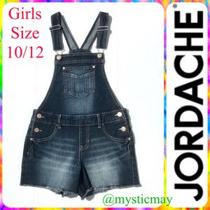 New JORDACHE Girls Denim Overall Shorts Size 10/12 for Sale in San Diego, CA