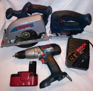 BOSCH 18V Combo Kit Drill Circular Saw Jigsaw for Sale in Burien, WA