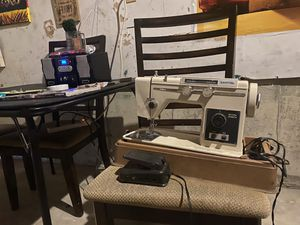 Vintage sewing machine! Turns on perfect two power plugs included inside machine case only needing one plug to run . Good condition. Not a sewer so for Sale in Naugatuck, CT