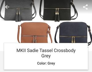 Gray purse with tasels bolso for Sale in Rockville, MD
