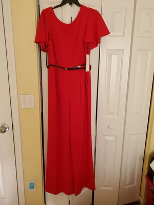 Beautiful Red jumpsuit - Calvin Klein size 8 for Sale in Hollywood, FL