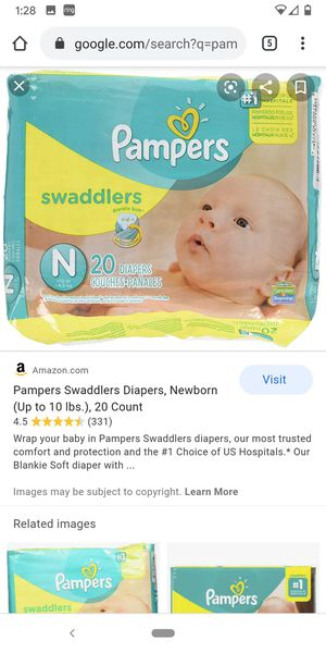 Pampers Swaddlers Newborn for Sale in Indianapolis, IN