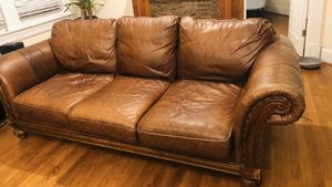 Will drive to you! Leather couch for Sale in Alexandria, VA
