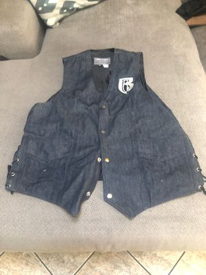 Ruff Ryder for life Denim Motorcycle Vest SIZE 3X for Sale in Maywood, IL