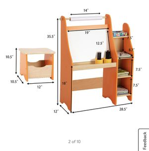 Art Kids Drawing Desk With Shelf And Stool for Sale in El Monte, CA