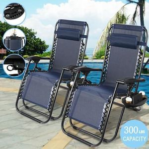 SHIPPING ONLY 2 Piece Set Patio Furniture Anti Gravity Chairs w/Cup Holder and Head Rest for Sale in Las Vegas, NV