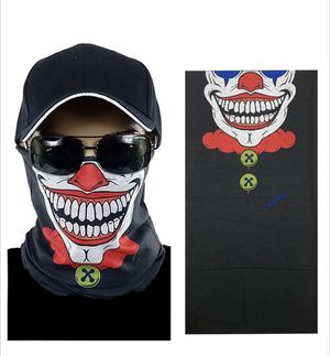 FACE MASK Smiling Clown Neck Gaiter Seamless Multi functional Protection for Sale in Anaheim, CA