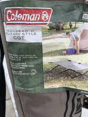 Coleman fold-up cot for Sale in Pomona, CA