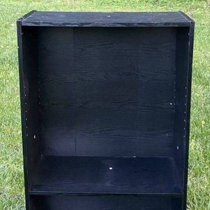 Black Wooden Adjustable Shelf Bookcase Storage Unit for Sale in Chapel Hill, NC