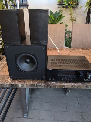 Yamaha receiver and Boston subwoofer and speakers for Sale in South El Monte, CA