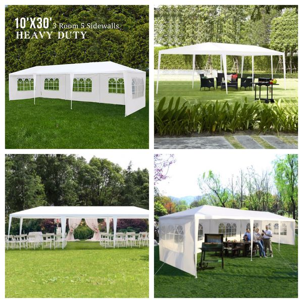 NEW White Canopy Party Wedding Tent Gazebo Event Outdoor Patio Table Shade Set Up Car/Truck Swimming Pool EZ bbq Cover Umbrella Shed Beach Chair Shel