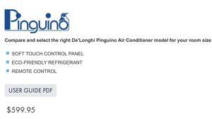 Delonghi PINGUINO PORTABLE AIR CONDITIONER for Sale in Selma, TX