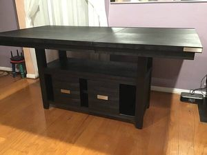 Counter height black extending dining table with storage retail $940 for Sale in San Diego, CA