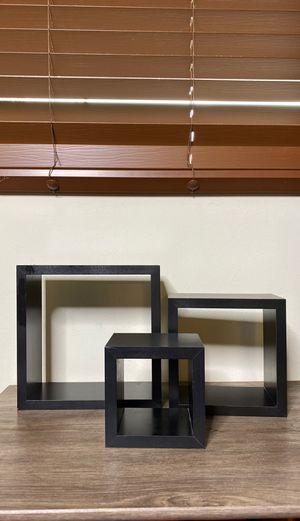 Cube Shelves Black for Sale in Pasadena, CA