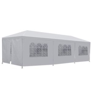 Outdoor Party Tent Gazebo Canopy Wedding Kitchen Camper Theater Cookout Pool Accessories 8 10'x30' White for Sale in Tampa, FL