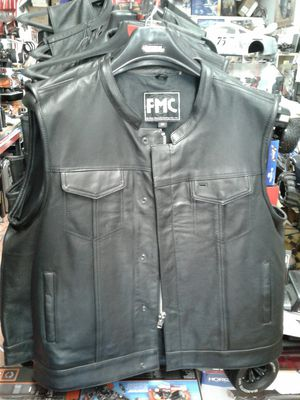 Motorcycle leather vest one week before Christmas special deal $99 for Sale in Los Angeles, CA