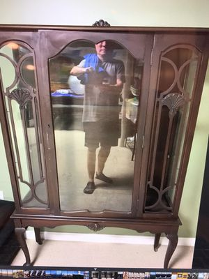 Antique China Cabinet with server for Sale in Franklin, MA