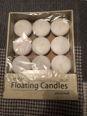 14 unused floating candles for Sale in Thomasville, NC