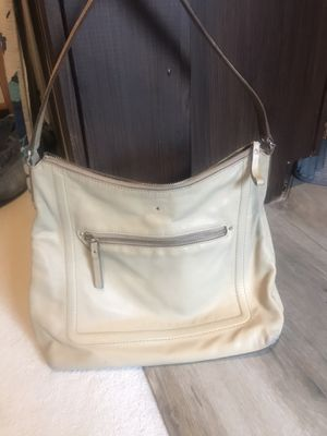 Kate Spade beige leather medium size bag for Sale in Chino Hills, CA