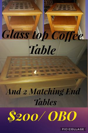 Coffee table & 2 Matching End Tables for Sale in Ocean Springs, MS