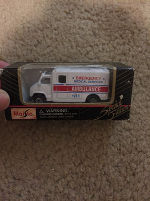Collectible car ambulance SPECIAL EDITION for Sale in Clovis, CA