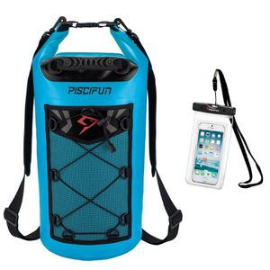 Piscifun Waterproof Dry Bag Backpack Floating Dry Backpack for Water Sports - Fishing, Boating, Kayaking, Surfing, Rafting, Camping Gifts 10L capacity for Sale in Houston, TX