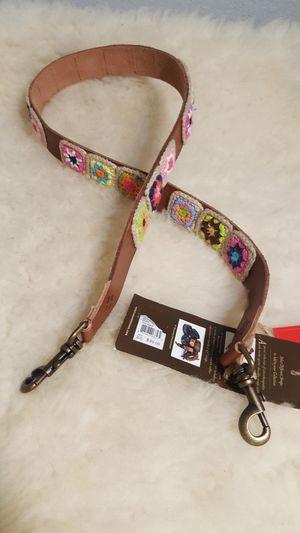 Patricia Nash – Bella Vista Braided Leather Guitar / Bag Strap, Brown – 47″ for Sale in Compton, CA