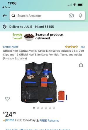 NERF Gun Vest and Glasses Toys Kids for Sale in Miami, FL