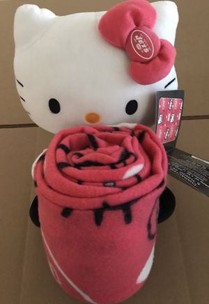 Hello Kitty NFL New York Jets throw blanket with Toy $30 or best offer for Sale in Brooklyn, NY