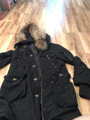 Military style winter black parka for Sale in San Francisco, CA
