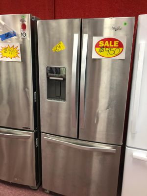 French door refrigerator whirlpool,stainless steel ,brand new(Appliances depot Comercial Blvd) for Sale in Fort Lauderdale, FL