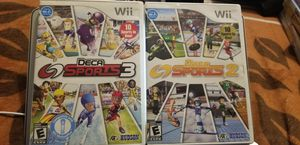 DecaSports 2 & 3 wii games for Sale in Los Angeles, CA