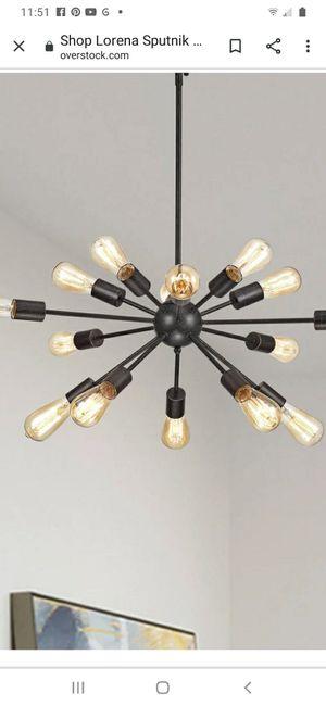 Black Sputnik chandelier for Sale in Leominster, MA
