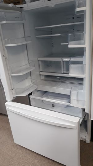 Kenmore white French doors refrigerator excellent condition for Sale in Laurel, MD