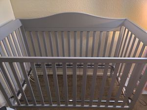 Grey baby crib and changing table for Sale in Phoenix, AZ
