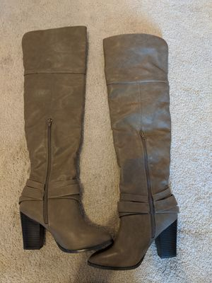 Tan Over the knee boots size 7 for Sale in Parma, OH