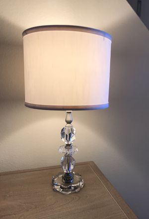 "Small designer crystal table lamp (18"") with drum shade for Sale in Tampa, FL"