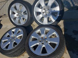 "AUDI 18""INCH WHEELS WITH 235/40/18 TIRES AND TPMS AIR SENSORS for Sale in Ontario, CA"